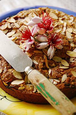 rhubarbalmondcake