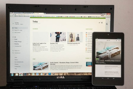 Feedly's Magazine View