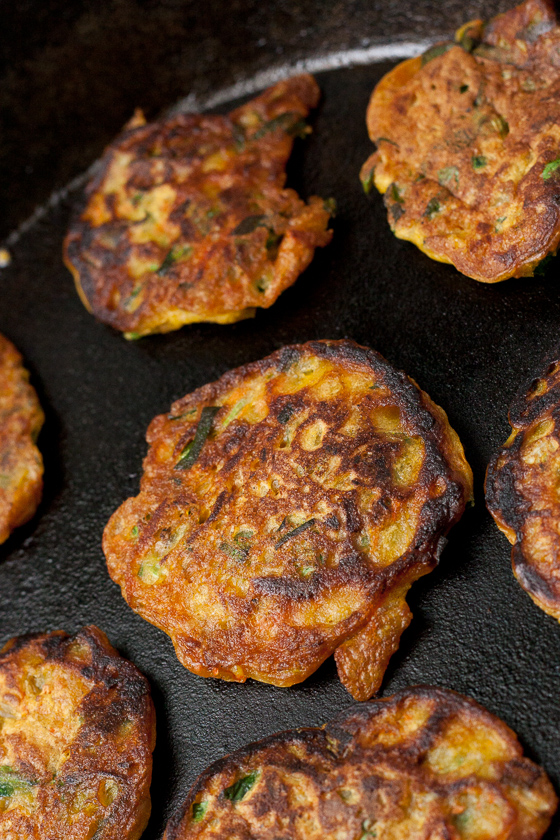 light golden chickpea fritters-1