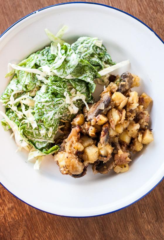 potato mushroom onion hash-1